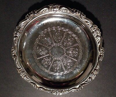 VINTAGE Silver Plated EP on steel Cocktail Coaster Tea Cup Plate/Candy Dish