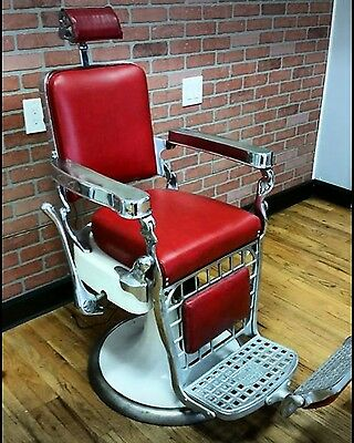 Antique barber chair Emil J Paidar