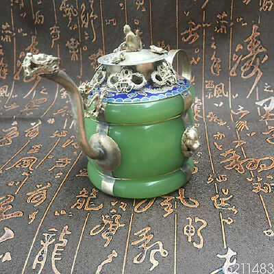 Valuable Animals Decorated Beautiful Wealth White Copper Pots Ornaments