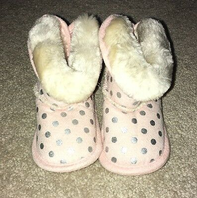 0-6 Months Baby Girls Pink Boots