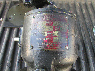 Vintage Foote Bros Gear Reducer #G16098A 1750RPM 36:1 Ratio #148 Working 5/44