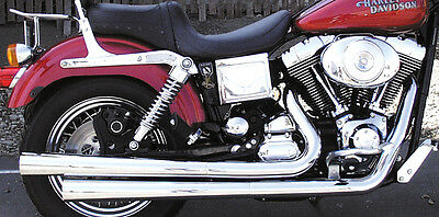Samson Motorcycle Exhaust Challenger Spitfire Fits Dyna 1991-2005 Models D-301X2