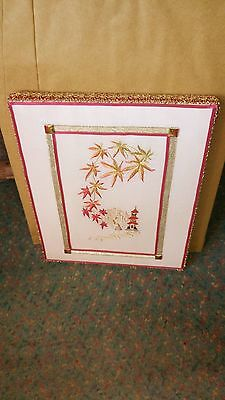 Embroidery Gift Hand-Made Chinese/Japanese Oriental Garden Picture