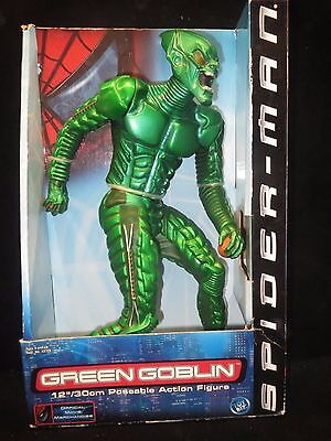 "New Green Goblin 12"" Poseable Action Figure Spider Man Movie 2001 Toy Biz"