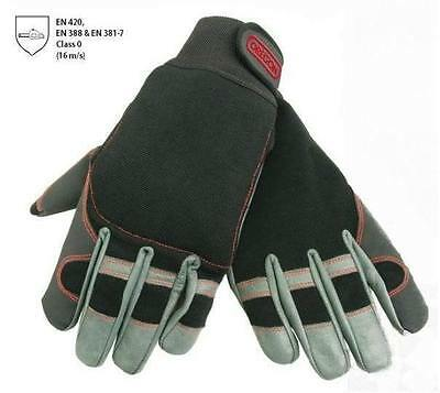 OREGON FIORDLAND CHAINSAW GLOVES MEDIUM SIZE 9 - stretch fabric & leather