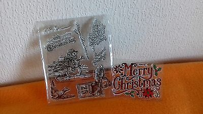 Christmas Clear Stamps for Card Making
