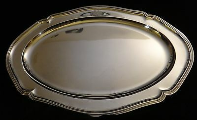 "Lg Ant. Royal German 800 Silver Serving Tray.  Lt.1800's. 86.8 t. oz. 25"" x 17"""