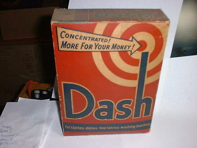 Vintage Unopened Dash Soap Red White Blue Box One Pound 12 1/2 Ounces