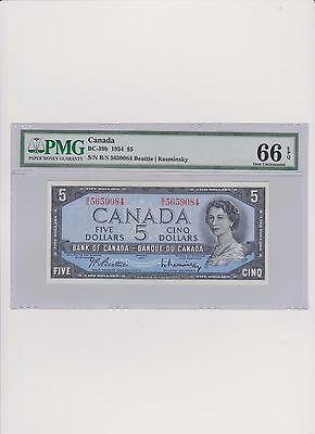 Canada 5 Dollars 1954 MS 66 PMG Certified