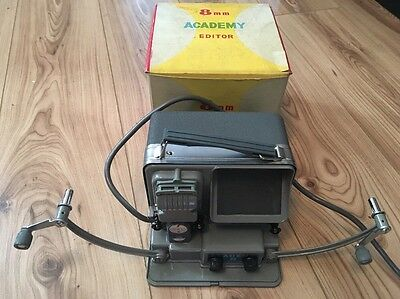 "Vintage ""Academy"" 8mm Film Movie Editor, Great Condition Working & Boxed"