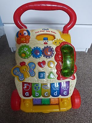 Vtech First Steps Yellow/Red Baby Walker With Phone, Lights, Sounds And Music