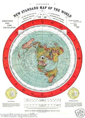 FLAT EARTH Map Collection  [6 Flat Earth Maps]  Free Shipping