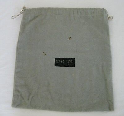 Vintage Frank M. Powers Youngstown Ohio OH Anti-tarnish Silver Bag