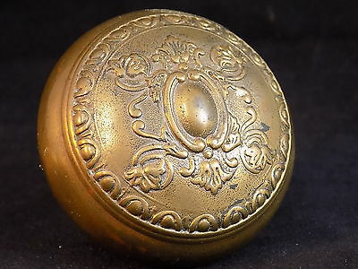 Antique Bronze DOOR KNOB with Decorative raised Radial Symmetry end cap