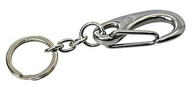 Stainless Steel Snap Shackle with Key Ring WICHARD