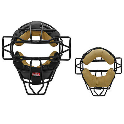 Rawlings Lightweight Hollow Wire LWMX Umpire Mask - Black