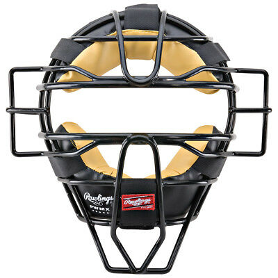 Rawlings High Visibility PWMX Wire Baseball/Softball Umpire Mask - Black