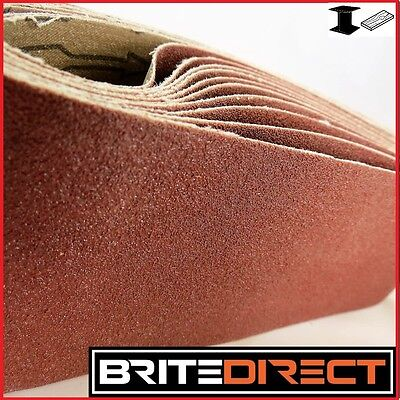10x Sanding Belt 75x533  Mixed Grade belt sander sand paper endless Best QUALITY