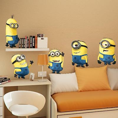 5-minions Despicable Me Removable Wall Stickers Decal Home Decor Kids Room Decor