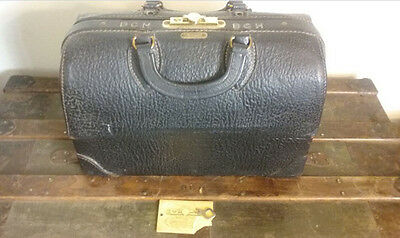 VINTAGE DR'S BAG - Emdee by Schell Leather Doctor's Bag with Supplies