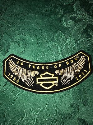 Vintage Harley 30 YEARS OF HOG  Patch- Excellent - New