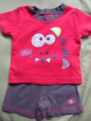 Boy's Dinosaur Top and Shorts set - age 6-9 months - George
