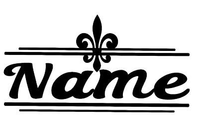 Fleur De Lis Vinyl Decal Sticker Personalized Last Name Door Wall DIY Choice