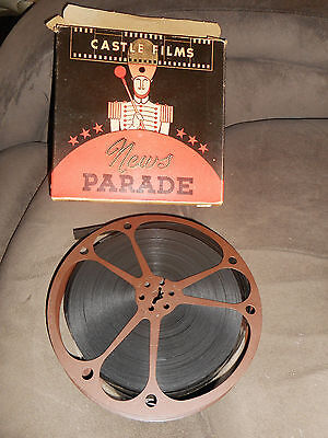 Vintage Castle Films News Parade of the Year 1945 16mm Movie in Box 162 w/ Sound