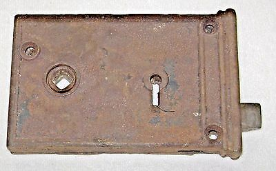 Antique 19th c. Cast Iron Mortise Door Lock