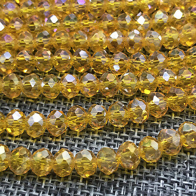 DIY 6mm 50pcs Crystal Flat Beads Spacer Loose Beads Jewelry Making wholesale#26