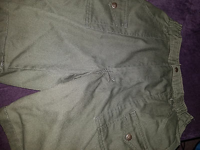 BOY SCOUTS Of AMERICA BSA ~ Youth Size 18 ~ OFFICIAL Uniform Canvas Green Shorts