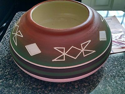 Sioux Indian Pottery Bowl signed Yellow Bird