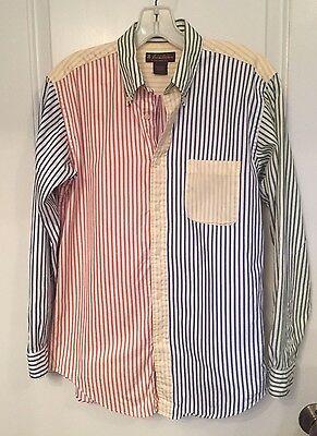 BROOKS BROTHERS Boy's Multi Color  Striped L/S Button Down Shirt Cotton Large