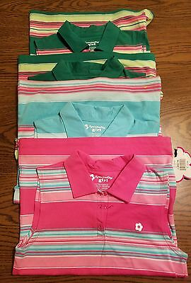 Lot of 4 Girls Size 14 L Specialty Girl Striped Sleeveless Shirts NWT
