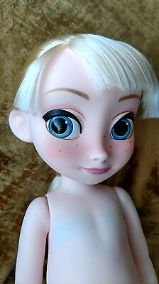 Disney Animators Frozen Toddler Elsa Nude Doll from Gift Set Newly deboxed