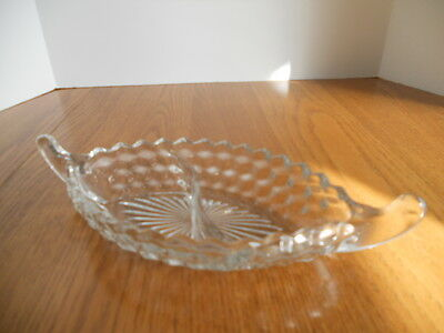 Fostoria American Divided Vegetable Bowl Elegant Depression Glass