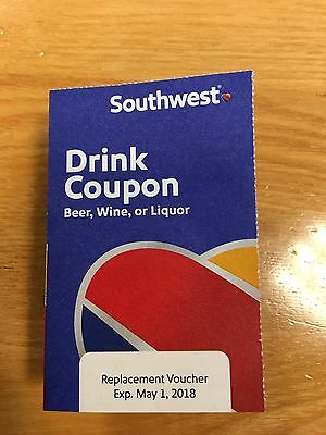 10 Southwest Airlines Drink Coupons (Exp 5/2018)