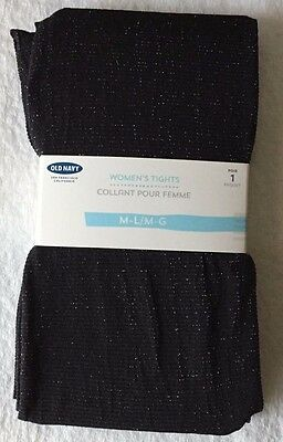 Women's Black Shimmer Old Navy Women's Tights Size Medium-Large NEW!!