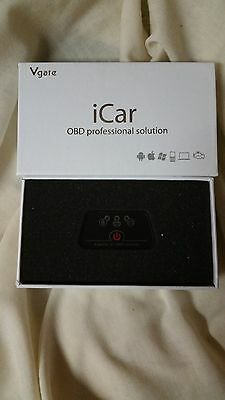 iCar ELM327 OBD2 Bluetooth Car Scanner Tool, Support Android Support