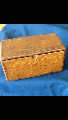Small Antique Wooden  Sewing Box
