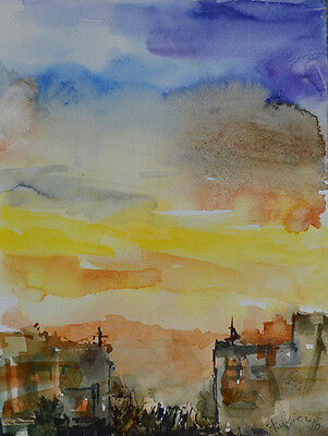 [No Reserve Auction] Original Watercolor Painting by American Artist Rukie J.
