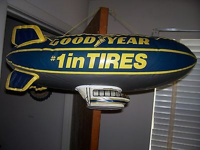 VINTAGE INFLATABLE GOODYEAR BLIMP OVER 2 FEET LONG perfect for nascar man cave