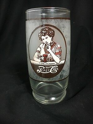 Pepsi-Cola Vintage 1970s Frosted Drinking Glass With Victorian Women