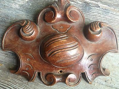 1800 Small  Antique Wood Pediment French Cornice Acanthus Scroll