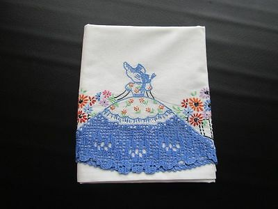 Lot of 11 Vintage Cotton Crocheted Pillowcases