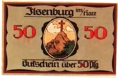 1921 Germany ELSENBURG 50 Phennig Notgeld / Banknote UNC