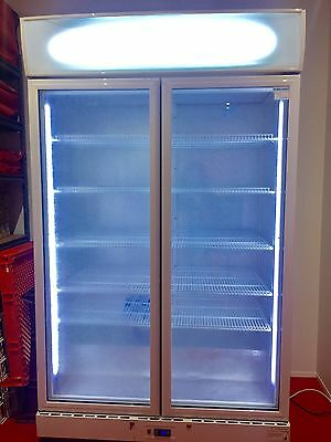 2-Door Commercial Upright Fridge LED Light