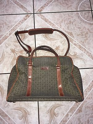 """Hartmann Tweed Luggage 15"""" Carry On Soft Duffle Overnighter Bag Canvas"""