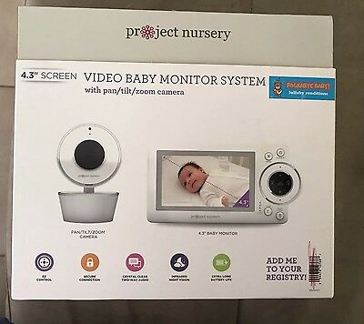"""Project Nursery 4.3"""" HD Baby Monitor Deluxe System New In Box"""