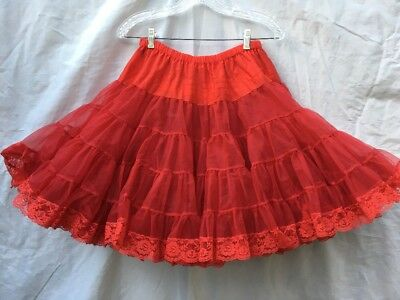 Square Dance Petticoat Red Square Up Fashions 1125 Long Slip Small 50 yards